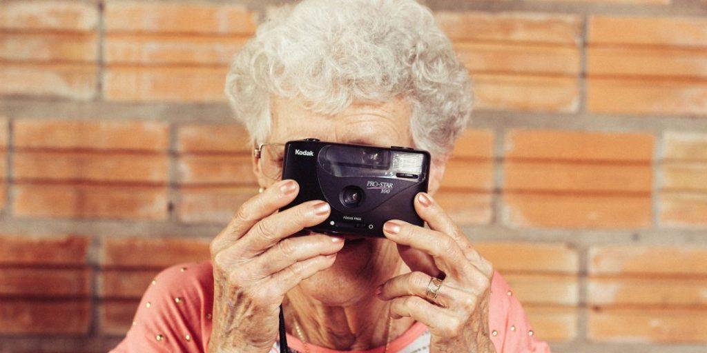 Grandma with camera